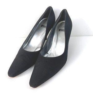 Stuart Weitzman Square Toe Black Heels Sz 8.5